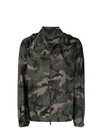 Veste-chemise camouflage vert foncé Valentino