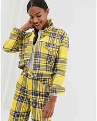 Veste-chemise écossaise jaune ASOS DESIGN