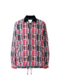 Veste-chemise écossaise multicolore