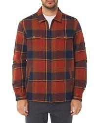 Veste-chemise écossaise orange