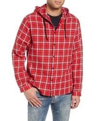 Veste-chemise écossaise rouge