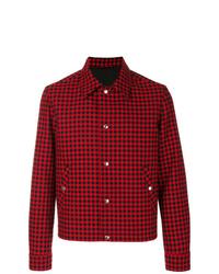 Veste-chemise écossaise rouge AMI Alexandre Mattiussi