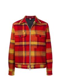 Veste-chemise écossaise rouge Ps By Paul Smith