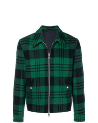 Veste-chemise écossaise vert foncé