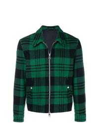 Veste-chemise écossaise vert foncé AMI Alexandre Mattiussi