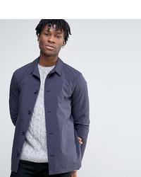 Veste-chemise en coton bleu marine