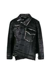 Veste-chemise en cuir matelassée noire Comme Des Garcons Homme Plus