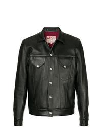 Veste-chemise en cuir noire Addict Clothes Japan