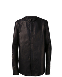 Veste-chemise en cuir noire Boris Bidjan Saberi