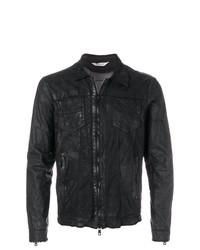 Veste-chemise en cuir noire Giorgio Brato