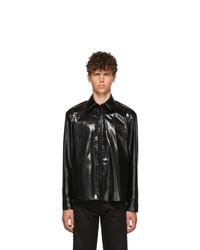 Veste-chemise en cuir noire We11done