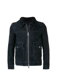 Veste-chemise en daim bleu marine AMI Alexandre Mattiussi