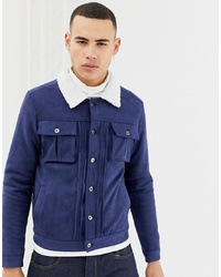 Veste-chemise en daim bleu marine Another Influence