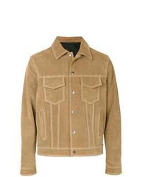 Veste-chemise en daim marron clair