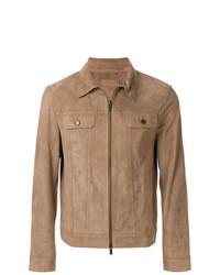 Veste-chemise en daim marron clair Desa Collection