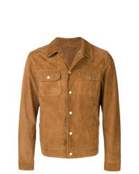 Veste-chemise en daim marron clair Eleventy