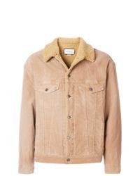 Veste-chemise en daim marron clair Gucci