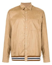 Veste-chemise en daim marron clair Loveless