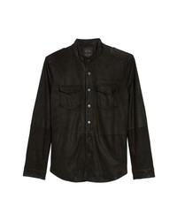 Veste-chemise en daim noire