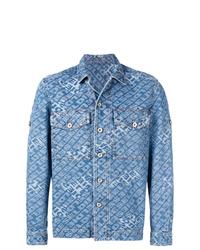 Veste-chemise en denim bleu clair Diesel