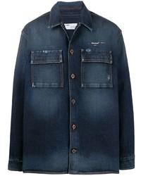 Veste-chemise en denim bleu marine Off-White
