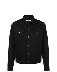 Veste-chemise en denim noire Givenchy