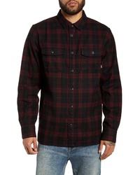 Veste-chemise en flanelle écossaise noire