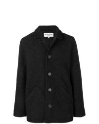 Veste-chemise en laine gris foncé YMC