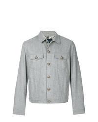 Veste-chemise en laine grise