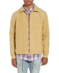 Veste-chemise en laine marron clair