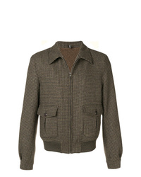 Veste-chemise en laine marron