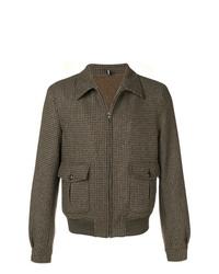 Veste-chemise en laine marron Lardini
