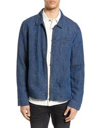 Veste-chemise en lin bleue