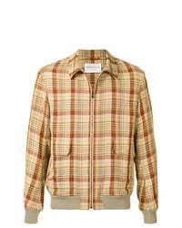 Veste-chemise en lin marron clair