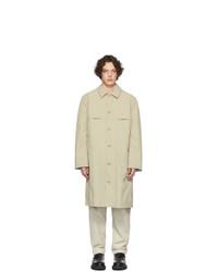 Veste-chemise en nylon beige Deveaux New York