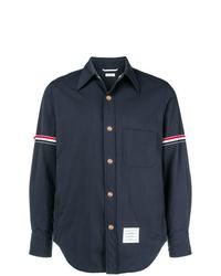 Veste-chemise en nylon bleu marine