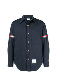 Veste-chemise en nylon bleu marine Thom Browne