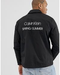 Veste-chemise en nylon noire Calvin Klein