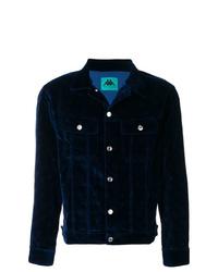 Veste-chemise en velours bleu marine