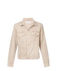 Veste-chemise en velours côtelé beige
