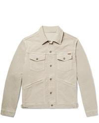 Veste-chemise en velours côtelé beige Tom Ford