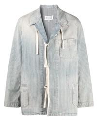 Veste-chemise en velours côtelé bleu clair Maison Margiela