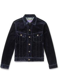 Veste-chemise en velours côtelé bleu marine Ralph Lauren Purple Label