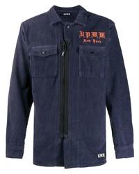 Veste-chemise en velours côtelé bleu marine U.P.W.W.
