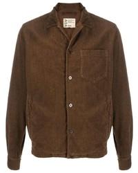 Veste-chemise en velours côtelé marron Aspesi