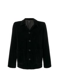 Veste-chemise en velours côtelé noire A.P.C.
