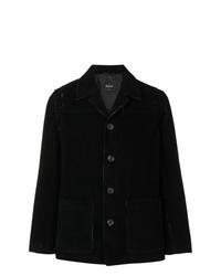 Veste-chemise en velours côtelé noire Hevo