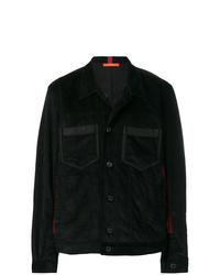 Veste-chemise en velours côtelé noire Komakino