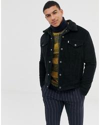 Veste-chemise en velours côtelé noire Levi's