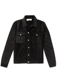 Veste-chemise en velours côtelé noire Séfr